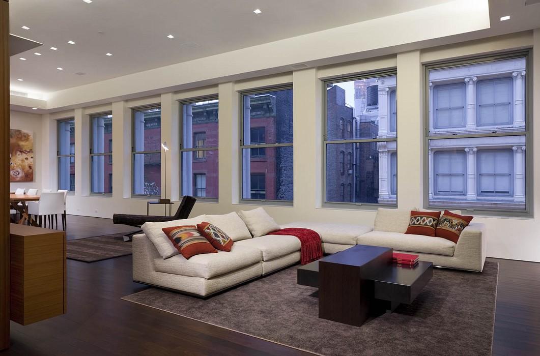 Living area, Mercer Greene Apartment