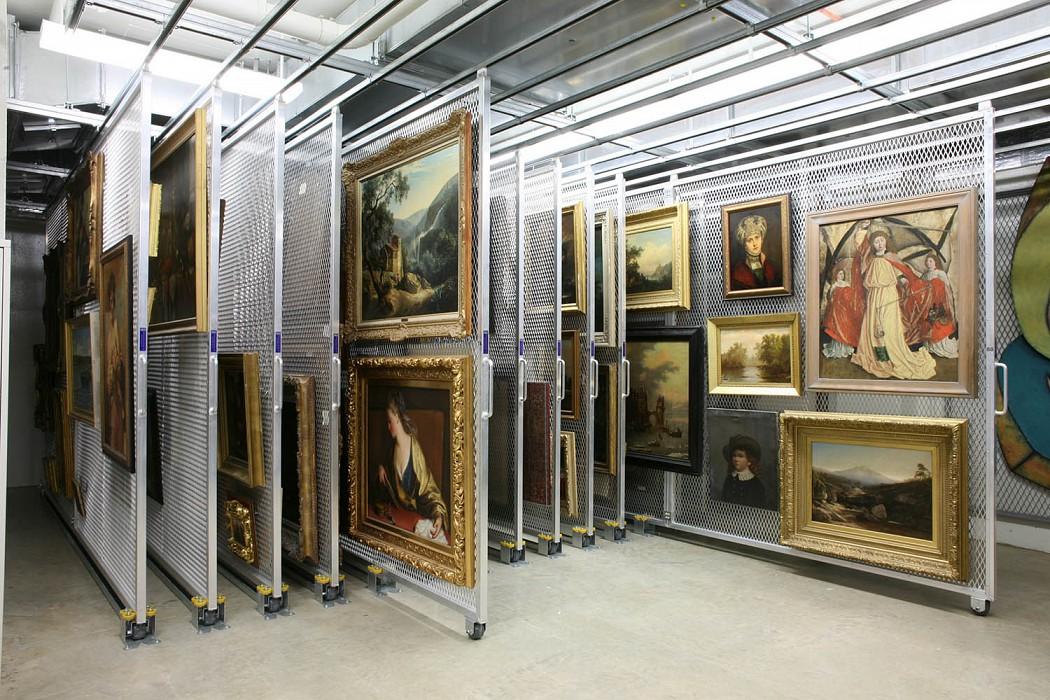 Painting Storage, Allen Memorial Art Museum Expansion & Renovation, Oberlin College