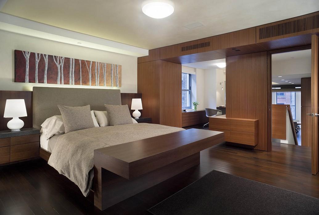 Master bedroom, Mercer Greene Apartment