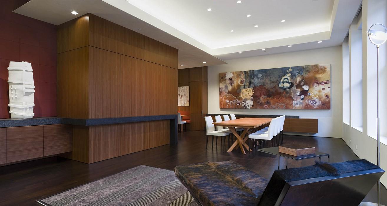 Living, dining, Mercer Greene Apartment